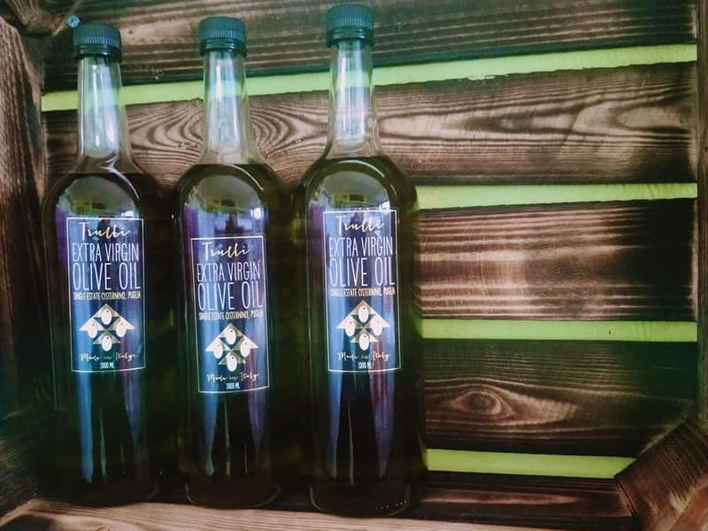 Extra Virgin Olive Oil First Cold Pressed from Puglia Italy
